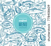 seafood design. form style | Shutterstock . vector #778408609