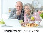 senior couple portrait  | Shutterstock . vector #778417720