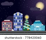 night christmas neighborhood.... | Shutterstock .eps vector #778420060