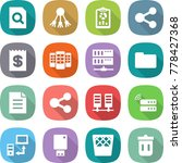 flat vector icon set   search... | Shutterstock .eps vector #778427368