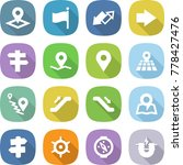 flat vector icon set   pointer... | Shutterstock .eps vector #778427476