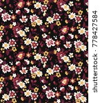 seamless ditsy floral pattern... | Shutterstock .eps vector #778427584