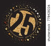 decorative golden emblem of... | Shutterstock .eps vector #778428226