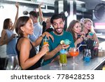 adult joyous male with female... | Shutterstock . vector #778428253