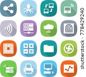 flat vector icon set   share... | Shutterstock .eps vector #778429240