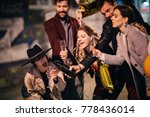 group of happy friends going on ...   Shutterstock . vector #778436014