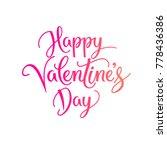 vector happy valentines day...   Shutterstock .eps vector #778436386