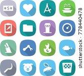 flat vector icon set   money... | Shutterstock .eps vector #778440478
