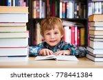 preschooler little boy reading... | Shutterstock . vector #778441384