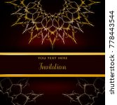 luxury invitation template with ... | Shutterstock .eps vector #778443544