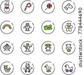 line vector icon set   snowman... | Shutterstock .eps vector #778444690