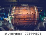 wooden tannery leather drum or...   Shutterstock . vector #778444876