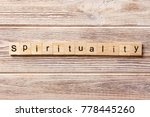 spirituality word written on... | Shutterstock . vector #778445260