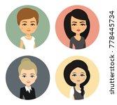 cartoon female avatar set ... | Shutterstock .eps vector #778445734