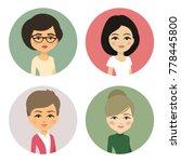cartoon female avatar set ... | Shutterstock .eps vector #778445800