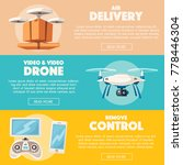 drone for delivery and... | Shutterstock .eps vector #778446304