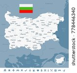 bulgaria map and flag   high... | Shutterstock .eps vector #778446340