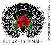 girl power slogan fashion...   Shutterstock .eps vector #778447603