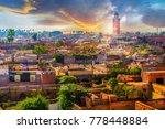 panoramic views of marrakech... | Shutterstock . vector #778448884