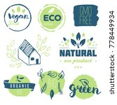 fresh  organic  gluten free ... | Shutterstock .eps vector #778449934