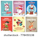 vintage christmas poster design ... | Shutterstock .eps vector #778450138