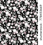 seamless ditsy floral pattern... | Shutterstock .eps vector #778453669