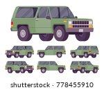 green offroad set. motor... | Shutterstock .eps vector #778455910