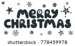 merry christmas caption with... | Shutterstock .eps vector #778459978