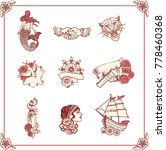 vintage tattoos in classic old... | Shutterstock .eps vector #778460368