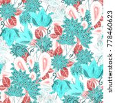 watercolor seamless pattern... | Shutterstock . vector #778460623