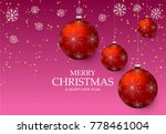 christmas light vector... | Shutterstock .eps vector #778461004