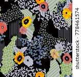flowers pattern.for textile ... | Shutterstock . vector #778461574