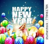 happy new year 2018   greeting... | Shutterstock .eps vector #778461784