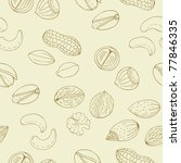 retro nuts seamless pattern - stock vector