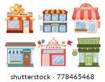 set of  flat designer... | Shutterstock . vector #778465468