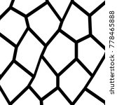 black and white irregular grid  ... | Shutterstock .eps vector #778465888