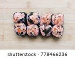 Sushi Maki With Eel  Unagi Roll ...