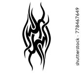 tattoo tribal vector design.... | Shutterstock .eps vector #778467649