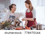 grandma and granddaughter... | Shutterstock . vector #778470166
