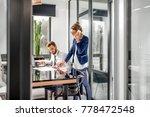 view through the open door on...   Shutterstock . vector #778472548