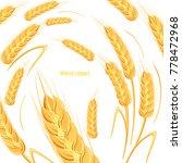 template for bread design.... | Shutterstock . vector #778472968
