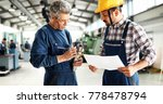 supplier with engineer checking ... | Shutterstock . vector #778478794