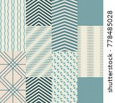 sealess patterns set with... | Shutterstock .eps vector #778485028
