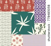 sealess patterns with various... | Shutterstock .eps vector #778485058