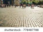 street tiles in europe and...   Shutterstock . vector #778487788