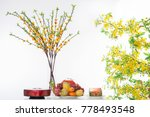 celebrating lunar new year ... | Shutterstock . vector #778493548