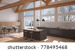 modern kitchen in classic villa ... | Shutterstock . vector #778495468