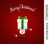 christmas greeting card with... | Shutterstock .eps vector #778495696