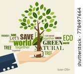 eco friendly. ecology concept... | Shutterstock .eps vector #778497664