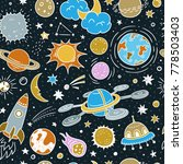 space seamless vector pattern.... | Shutterstock .eps vector #778503403